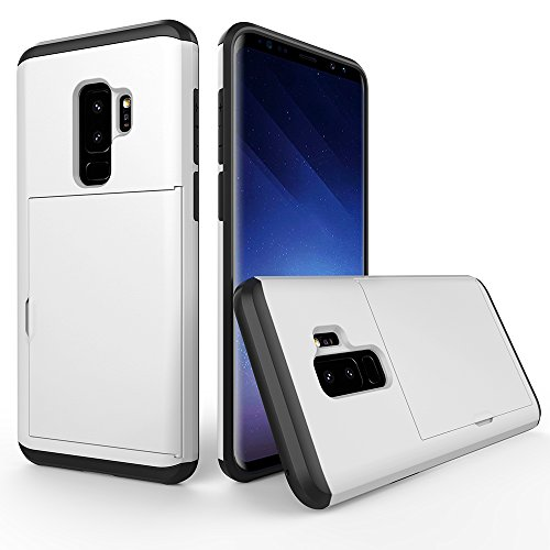 Samsung Galaxy S9 Case, Wallet Case Credit Card Holder Enhanced Grip Card...