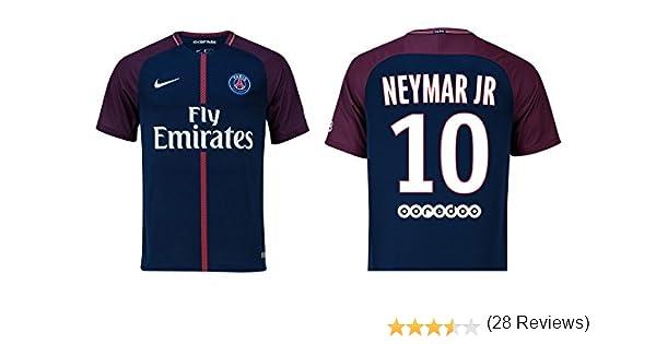 Camiseta para niños del Paris Saint-Germain, 2017-2018 (primera equipación) - Neymar Jr 10, Draxler 23: Amazon.es: Deportes y aire libre