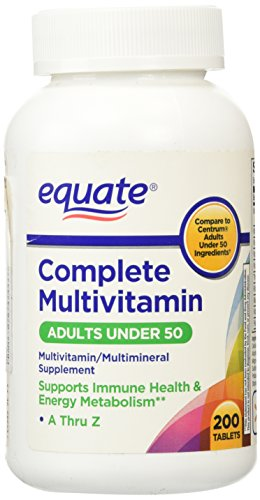 Equate - Complete Multivitamin Multimineral, 200 Tablets