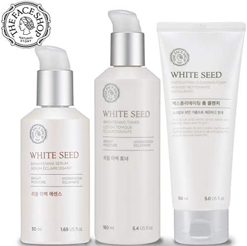THE FACE SHOP White Seed Brightening Set (Toner + Serum + Cleanser), 20 g.
