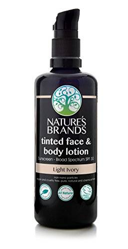 (Herbal Choice Mari Natural SPF 30 Tinted Face & Body Lotion Light Ivory; 3.4floz)