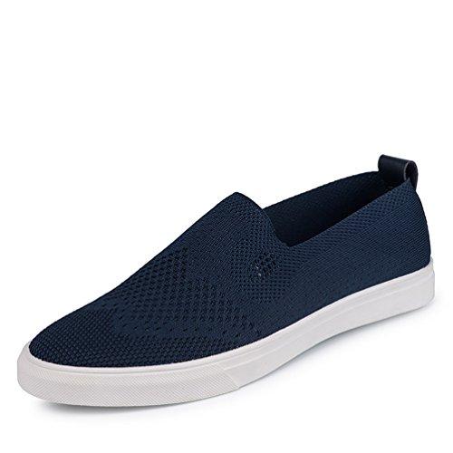 かもめクレジットスペイン[XINXIKEJI]メンズデッキシューズ 通気 軽量 クッション性 スリッポン カジュアル ウォーキング 履き心地よい 歩きやすい 紳士靴  レッド ブルー グレー