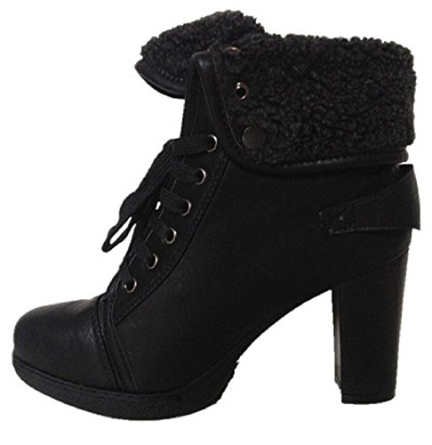 Ankle boots woman fur fashion hot sexy black knee high heel square Blanket OS902 K4M5Y