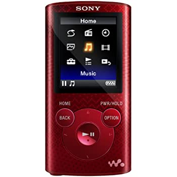 Sony NWZE384 8 GB Walkman MP3 Video Player (Red)