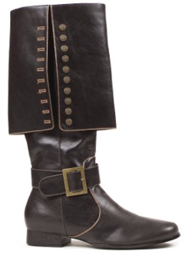 Deluxe Pirate Captain Black Boots for Guys -