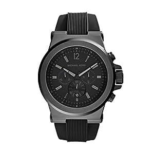 Michael Kors Mk8152 - Reloj de caballero de cuarzo, correa de silicona color negro
