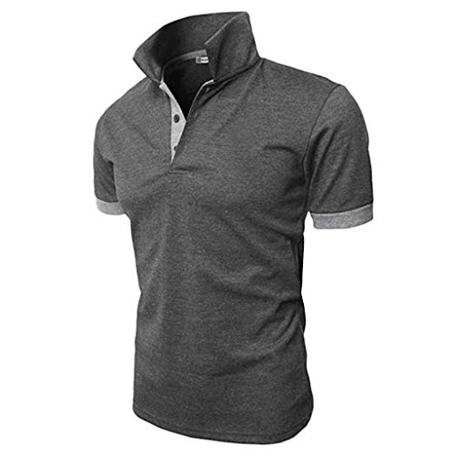 Polo Shirts for Men Short Sleeve Casual Slim Fit Basic Sport Polo T-Shirts Solid Golf Polo Shirt Pullovers Tops Ulanda (Polo Golf Cricket Shirt)
