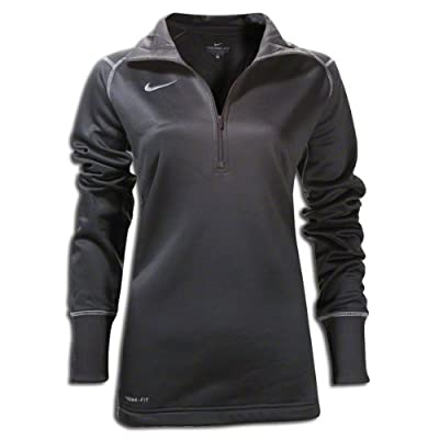 Nike Women's Quarter Zip Therma-Fit Performance Sweatshirt, Color Options (Small, Royal Blue)