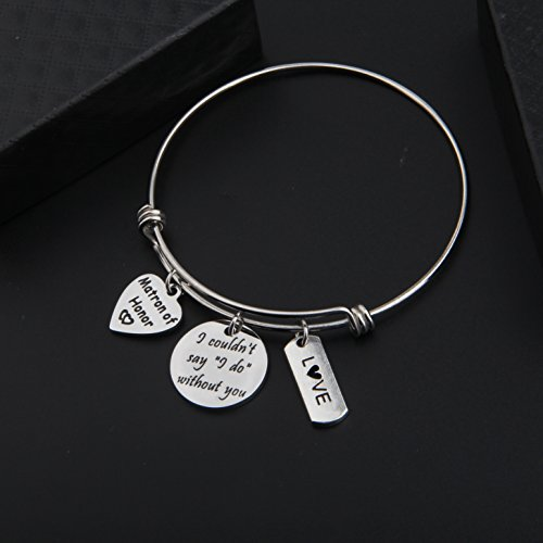 Zuo Bao Bridesmaid Gift I Couldn't Say I Do Without You Bracelet Matron of Honor Jewelry Maid of Honor Proposal Gift (Silver) by Zuo Bao (Image #3)