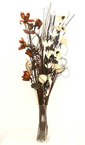Dried & Artificial Flower Bouquets 90cm Tall Ready For A Vase (brown and...