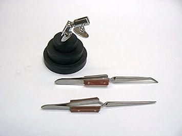 Tercera mano soldador soporte de tercera mano de trabajo y 2 Cable de Cruz, diseño de pinzas de agarre de bloqueo: Amazon.es: Jardín