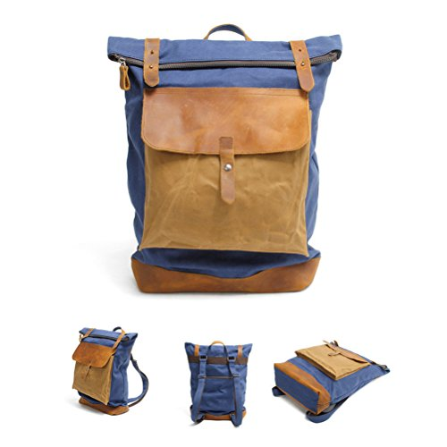 Computer Vintage Style Blue Shoulder Women Zhhlaixing And Men Bolsos College Travel Bag Fashion Backpack Casuales W6ncgna