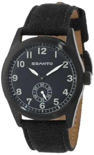 Szanto Men's SZ 1001 1000 Series Vintage-Inspired Military Field Watch