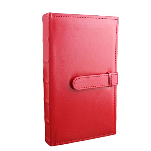 TNGCHI 5Inch Photo Album Picture Commemorative Collection Book Sewn Bonded Leather Buckle 300 Photos 3 Per Page