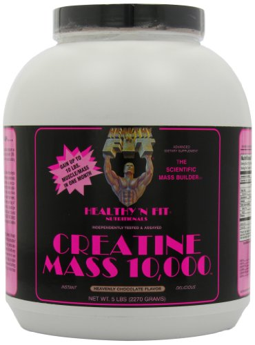 Healthy 'n Fit Creatine Mass 10000 5-pound Bottle Chocolate,  Tub