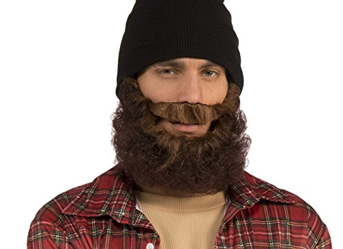 Costume Lumberjack Beard (Brown Curly Beard with)