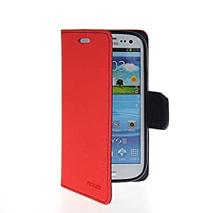 MOONCASE Flip Leather Wallet Card Shell Pouch Stand Case Cover For Samsung Galaxy S3 I9300 Red