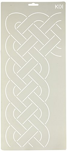 Corner Border Quilt Stencil - Quilting Creations Cable Border and Corner Quilt Stencil, 5-1/4
