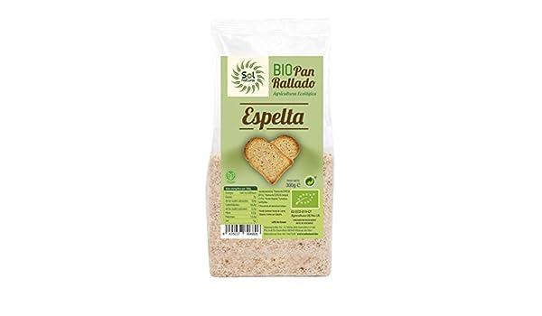 Sol Natural Pan Rallado de Espelta - Paquete de 6 x 300 gr ...