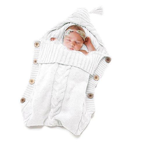 Newborn Baby Swaddle Blanket-Truedays Large Swaddle Best Soft for Boys Or Girls, White -