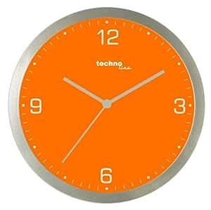 Technoline Wt 9000 - Reloj de Pared de Cuarzo, color naranja