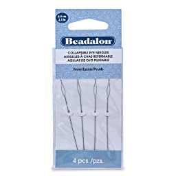 Beadalon Collapsible Eye Needles 2.5-Inch Heavy 4 Pack