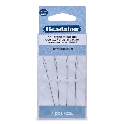 Artistic Wire Beadalon Collapsible Eye Needles 2.5-Inch Heavy 4 Pack (700H-100)