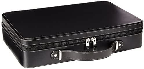Tech Swiss TS6300BLK Black Leather Watch Briefcase,Large