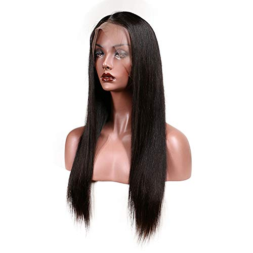 Slove Lace Front Human Hair Wigs Women Remy Hair Straight Wig Natural Hairline Full End,#2,14inches]()