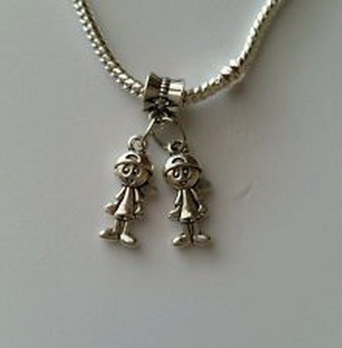 Costumes Calgary Kids (Beads Hut - Little Boys Brothers Twins Babies Dangle Bead for Silver European Charm)