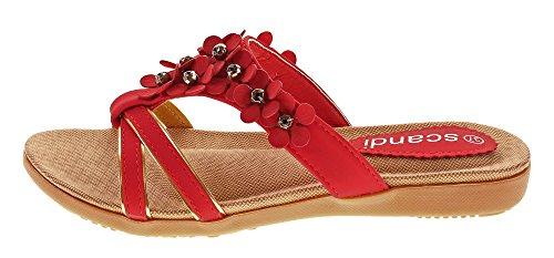 Scandi Women's Mules Red HCOCOm63TN