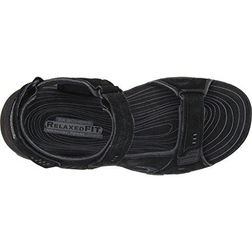 Skechers Heren Relaxte Pasvorm Gander Alec Sport Sandaal Zwart