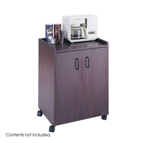 Mobile Center Safco Refreshment - Mobile Refreshment Center, One-Shelf, 23w x 18d x 31h, Mahogany, Sold as 1 Each