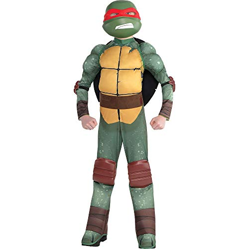 Amscan Teenage Mutant Ninja Turtles Raphael Muscle Halloween Costume for Boys, Small, with Included Accessories]()