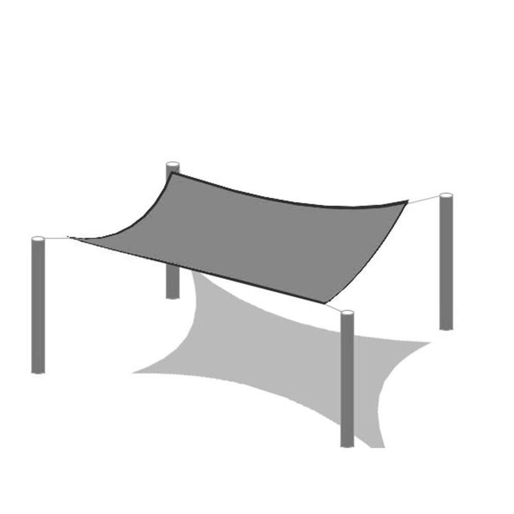 Colore : Nero, Dimensioni : 2x2m GDMING Rete Parasole Serre Antivento Buco di Metallo Anti Ruggine Protezione Ombra Serra Ispessimento del Bordo Leggero Poliestere 23 Taglie