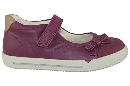 Clarks Lilfolk Run Inf Girls Casual Shoes 8 F Plum