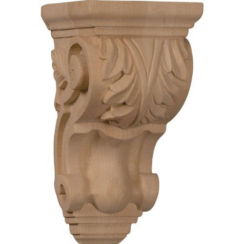[Ekena Millwork CORW03X04X07TAWA 3 1/2-Inch W x 4-Inch D x 7-Inch H Small Traditional Acanthus Corbel, Walnut] (Traditional Mantel)