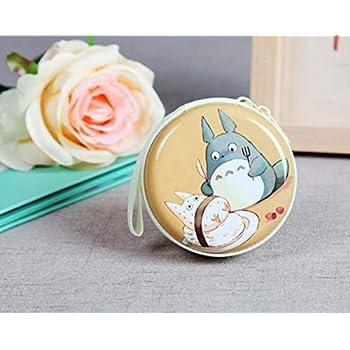 cecb2304a9 Thedmhom 1 Pcs New Cute Kawaii Animal Cartoon Anime Cat Eat Meals  Waterproof Zipper Totoro Coin