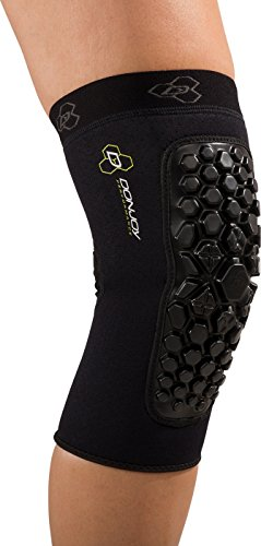 DonJoy Performance Defender Compression Support Knee Pads (Pair) - Padded Support for Collision Contact Sports, Football, Rugby, Lacrosse, Martial Arts, Obstacle Courses (Collision Ball)