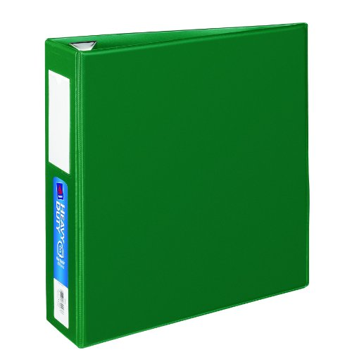 Avery Heavy-Duty Binder with 3-Inch One Touch EZD Ring, Green, 1 Binder (21010)