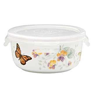"""Lenox Butterfly Meadow Serve and Store 5.5"""" Bowl, White - 833959"""