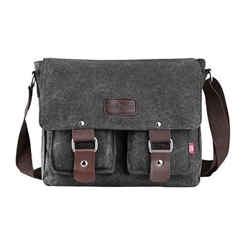 - Genda 2Archer Canvas Messenger Bag for Men and Women Vintage (Black(New))