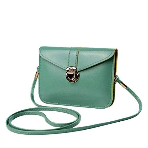 Handbag Messenger Women Black Clearance Nevera Leather Purse Mint Green Bags Crossbody Shoulder R1Rqap