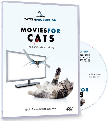 Movies for Cats - The Audio-visual Cat Toy - Catsitter - Vol.1 : Animals That Cats Love - DVD Video - The Fascinating New Tv Experience for You and Your Cat - The Gift 2016: Birthday or Easter Gifts for Cats / Gifts for Cat Friends, Cat Lovers and Cat Fans - New Cat Movie Toys - Audio Visual Tv