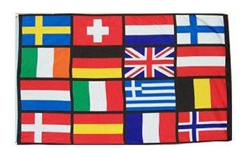 16 European Nations - 3' x 5' Polyester Novelty Flag