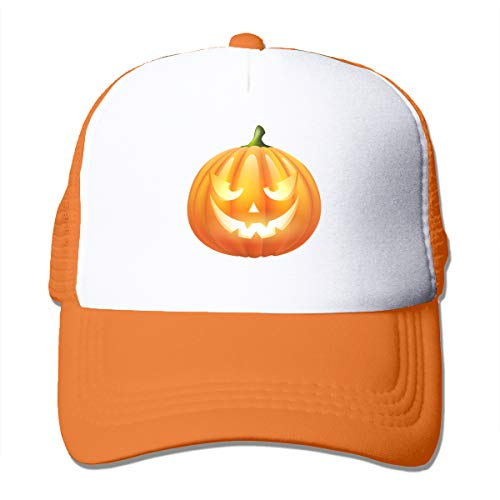 Unisex Trucker Hat Halloween Pumpkin Men Women Adjustable Mesh Cap Funny Snapback Hats Orange ()