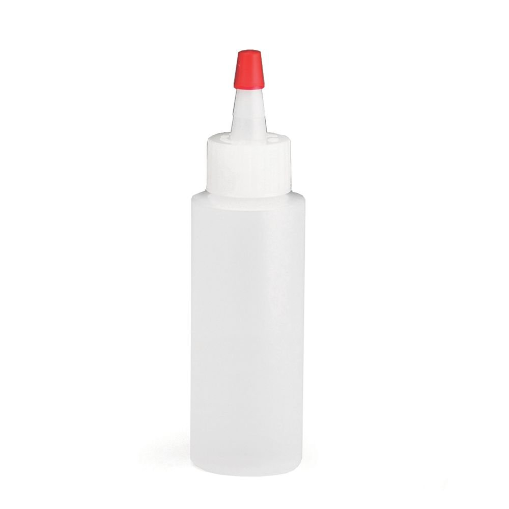 TableCraft 1102 Natural 2 Ounce Squeeze Bottle with Red Tip - Dozen