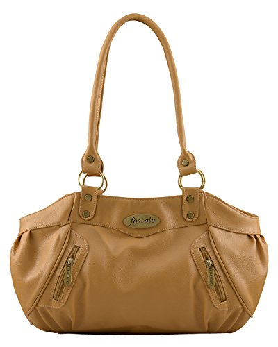 Fostelo Women's Swan Shoulder Bag (Beige) (FSB-720)