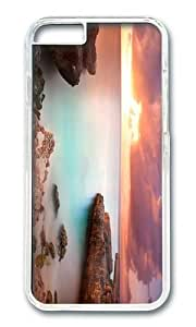 MOKSHOP Adorable coral rock sunset Hard Case Protective Shell Cell Phone Cover For Apple Iphone 6 Plus (5.5 Inch) - PC Transparent