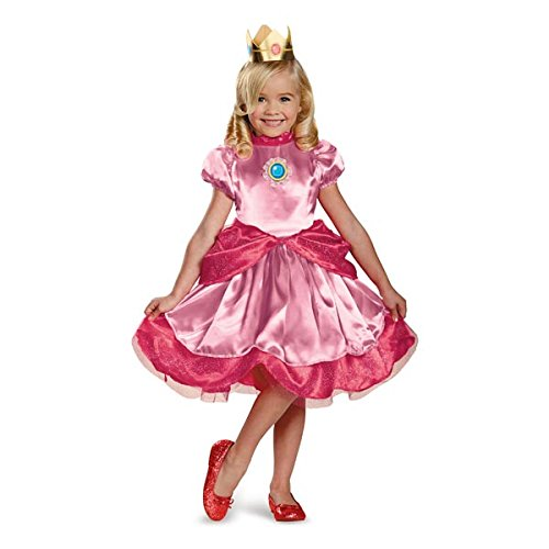 [Disguise Nintendo Super Mario Brothers Princess Peach Girls Toddler Costume, Small/2T] (Small Toddler Toddler Costumes)